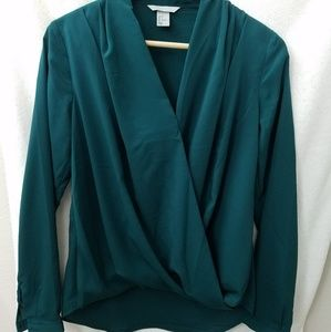 H&M Wrap Front Polyester Blouse, US 6
